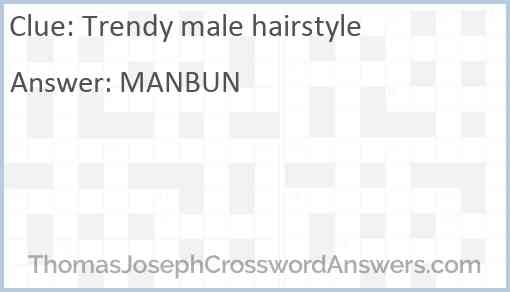 Trendy male hairstyle Answer